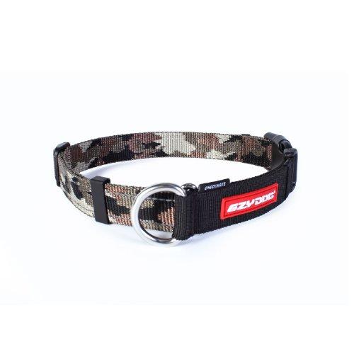 EzyDog Checkmate Hundehalsband - Halsband Hund - Zugstopp Halsband für Hunde - Zughalsband für hunde - Trainings und Dressurhalsband. Schlupfhalsband für Große, Mittlere und Kleine Hund (L, Camo)