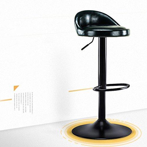LF-selles barkruk vorkstoel eetkamerstoel draaibaar met rugleuning bureaustoel pedaal H62-82cm Donkergroen