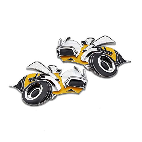 Pair 3D Metal Charger SRT8 Super Bee Logo Car Emblem Badge Sticker...