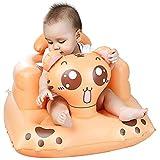 YCX Kindersofababy-Aufblasbarer Sitz Verstärker, Lernen Sofa Multifunktions Aufblasbare Abendessen Stuhl Tragbare Badehocker Für Baby,Orange