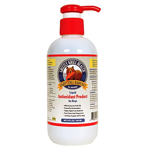 Grizzly Pet Products Krill Health Liquid Antioxidant for Dogs 8 oz