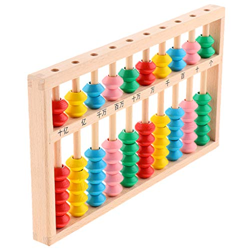 lahomia Multi-functional Counting Toy Wooden Chinese Abacus Kid Math Learning Supply