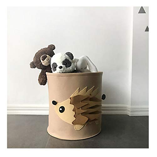 Large Lion Pattern Laundry Hampers Large Capacity Laundry Bins For Living Room Bedroom Children's Toy Storage Box (Color : Little hedgehog)