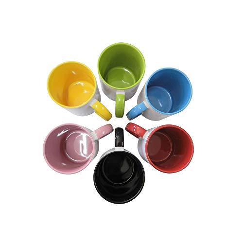 Caneca de Porcelana para Sublimação Premium Colorida 325ml - 6 Unidades