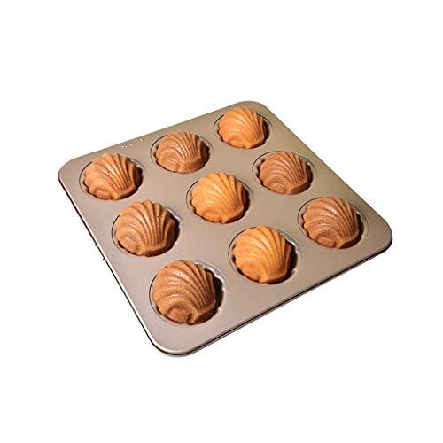 Duurzaam Cakevorm Non-stick bakvorm Golden Nine-aangesloten Shell Madeleine Cake bakplaat Thuis Oven Mid-Autumn Moon Cake Handig