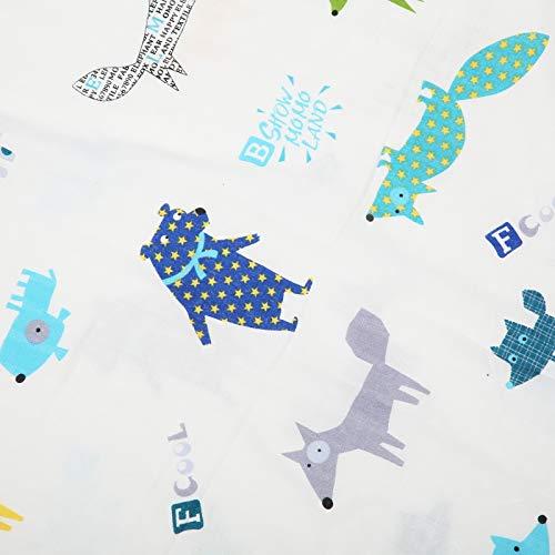 Manta de toalla de baño para bebés Patrones y colores suaves y lindos para bebés(Happy fox)