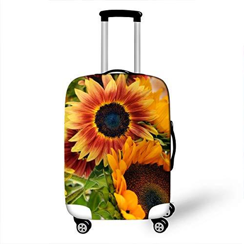 Elastica Proteggi Valigia Suitcase Luggage Cover, DOTBUY 3D Lavabile Viaggio Proteggi Bagagli Coprire Coperchio di Protezione Antipolvere Copertura (giallo verde,L (26-28 pollici))