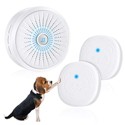 Timbre de Puerta inalámbrico para Perros Timbre Inteligente Doggie Potty Timbre de la comunicación con botón de presión superligero para adiestramiento de Perros