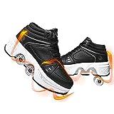 JZIYH Doble Rodillo Zapatos De Skate Zapatos Invisible De Polea De Zapatos Zapatillas De Deporte Zapatillas Deportivas para Niños Zapatillas De Gimnasia para Niñas Navidad Pascua