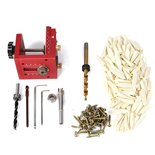 Yadianna Hole Drill Pocket Guide Dowel Jig Set Woodworking Joinery Master Kit Woodworking Tools