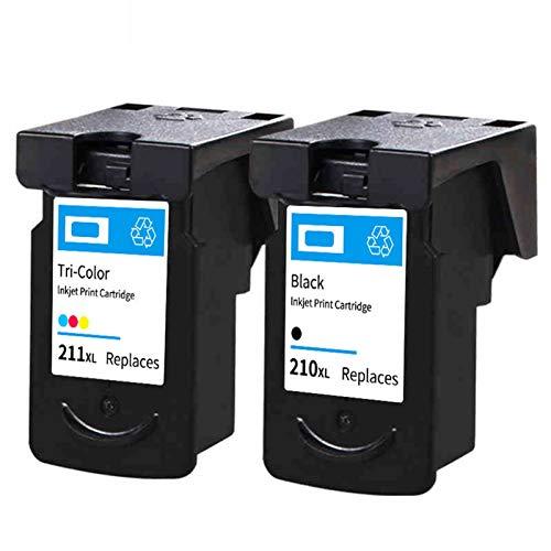 Cartuchos de tinta, PG210 CL211 Cartuchos de impresora de tinta de reemplazo de alto rendimiento para Canon MX320 MX330 MX410 Cartucho negro y de color black and color