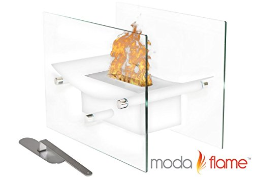 Save %9 Now! Regal Flame Cavo Tabletop Ventless Bio Ethanol Fireplace Finish: White