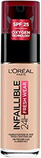 L'Oreal Paris Infallible 24hr Freshwear Liquid Foundation 25 Rose Ivory 30ml