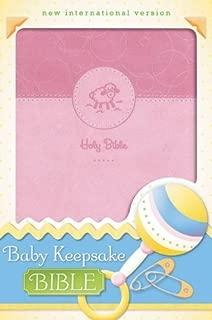 NIV, Baby Keepsake Bible, Leathersoft, Pink