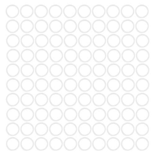 Durable 100 piezas conveniente silicona blanca anillo tórico arandela de silicona tamaño pequeño con silicona(31 * 3mm)