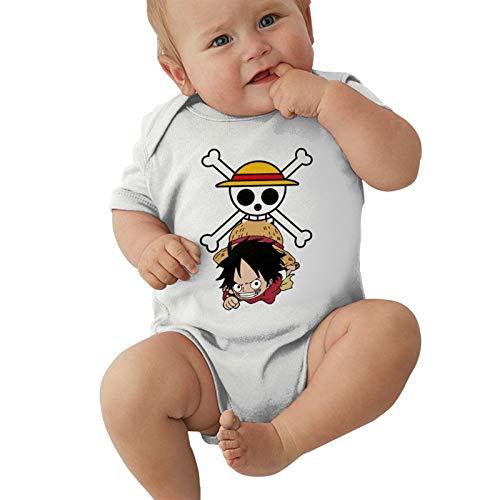 Anime One-Peice Luffy Logo Baby Boys Pijama Unisex Romper Baby Girls Body Infant Kawaii Jumpsuit...