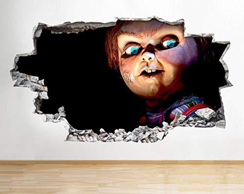 C284 griezelige angstaanjagende horror pop film gebroken muur sticker 3D kunst Stickers Vinyl kamer