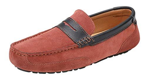SK Studio Hombres Zapatos de Conducción Mocasines Calzado Plano Casuales Multi4 MarróN 44 EU