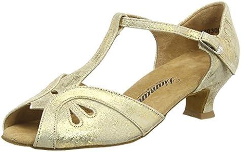 Diamant Damen Tanzschuhe 019-011-017, Estándar y latín Mujer, Oro (Gold Magic), 37 1/3 EU