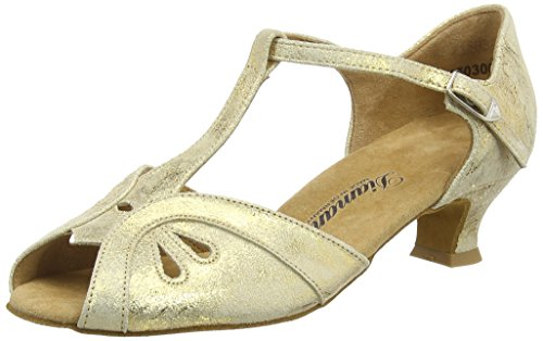 Diamant Damen Tanzschuhe 019-011-017, Estándar y latín Mujer, Oro (Gold Magic), 36 2/3 EU