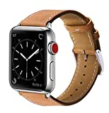 Marge Plus Compatible Marge Plus Compatible with Apple Watch Band 42mm 44mm, Genuine Leather Re…