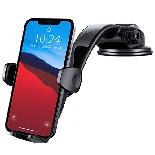 Amazon Brand - Eono Porta Cellulare da Auto, Supporto Telefono Auto Cruscotto Parabrezza 360° Rotazione, Accessori Auto per Cellulare, Auto Universale per iPhone Samsung Huawei e GPS Dispositivi