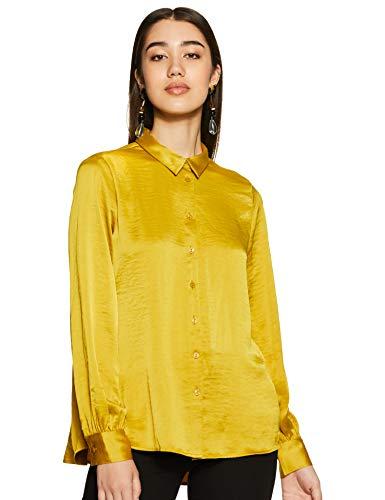 Marks & Spencer Women's Floral Regular fit Shirt (T53/2004U_Antique Brass...