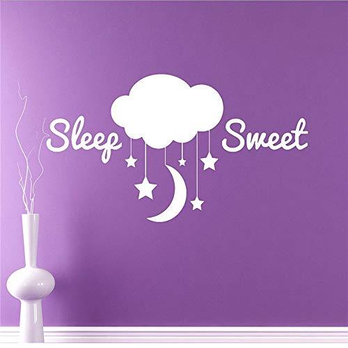 WZXHN Ciel Nuages Étoiles Vinyle Decal Sommeil Doux Autocollant Home Interior Bedroom Decor Enfants Chambre Enfants Mur Sayings 110 * 57Cm