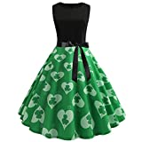 Cuteelf Karnevalsparty Fancy Festival Zubehör,St. Patricks Day Frauen Vintage 1950er Jahre Retro...