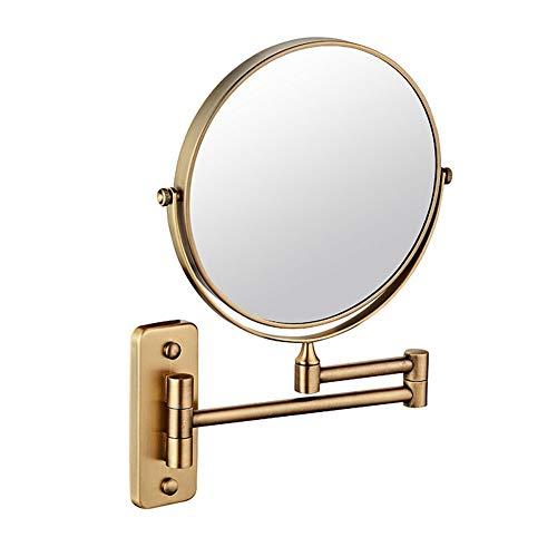 Miroir Mural Grossissant x3 Fois Grossissement-Extension Pliant-Rond-Double Face-360 Degrés Rotation Miroir Grossissant Miroir Salle De Bain Peut être Monté avec Forage 8 Pouces