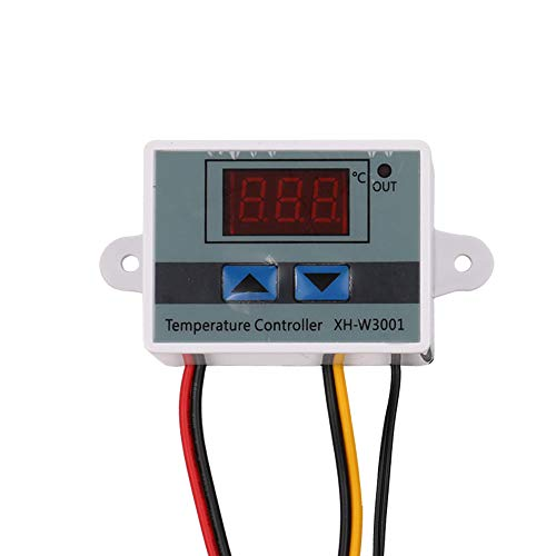 KKmoon Xh-W3001 Temperatuurregelaar met LCD-display, digitale thermostaat, microcomputer, thermo-element 12V