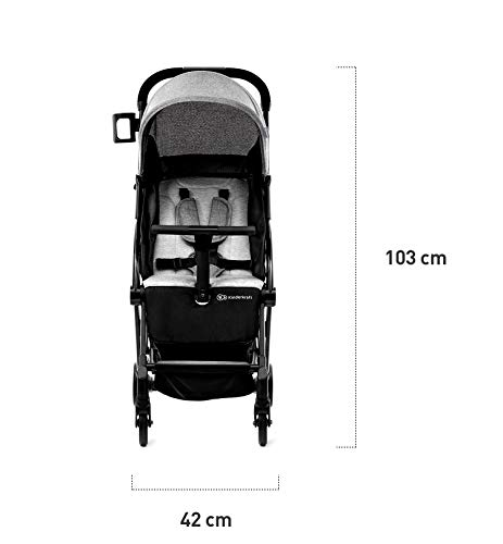 Kinderkraft Pilot Light Buggy Pushchair Pushchair Pushchair Folding kk KinderKraft An innovative folding system, with a shoulder strap for easy transport The set contains: Modern barrier, shopping basket under the seat, foot protection, rain cover and cup holder. High quality stored, rubber wheels - all muffled. 9
