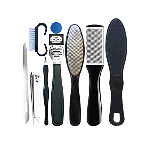 Minkissy 10 Stücke Pediküre Kit Fuß Feile Raspel Entfernen Hart Rissige Tote Haut Fußpeeling Pflege Werkzeug für Männer Frauen