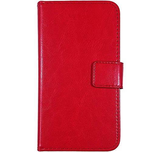 QHTTN Rot Leder Tasche Hülle Für Oukitel U15s 5.5