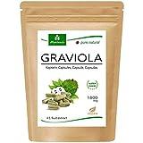 moriveda® - capsule graviola 120 x 1800mg estratto di frutta 4: 1 in guscio capsula hpmc, vegano, prodotto di qualità - soursop (1x120 capsule)