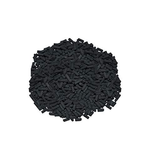 Helo 10 kg Aktivkohle Pellets (B) mit hoher Adsorptionsfähigkeit, hochporöser Struktur und großer innerer Oberfläche (1,0 kg entspricht ca. 500.000 m²), Pellets Ø ca. 3-4 mm, Länge: ca. 3-15 mm