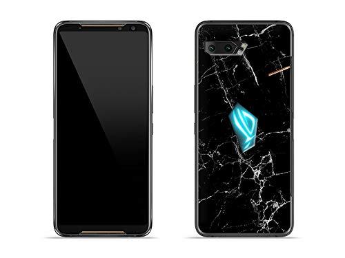 etuo Hülle für Asus ROG Phone 2 - Hülle Fantastic Hülle - Schwarze Marmor Handyhülle Schutzhülle Etui Hülle Cover Tasche für Handy