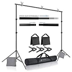 🏆The Kit Includes: [2 pcs] Male and Female Cross Bar Parts / [2 pcs] Support Stand / [3 pcs] Photo Clamp / [2 pcs] Sand Bag / [1 pc] Carry Bag 🏆Professional Lightweight Support for Backdrops, Aluminum Alloy Construction for Versatility & Portability ...