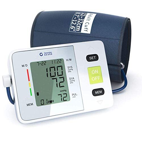 Clinical Automatic Blood Pressure Monitor Upper Arm - Adjustable Blood Pressure Cuff, High Blood Pressure Machine - Large Screen Display, Portable Case - Irregular Heartbeat & Hypertension Detector