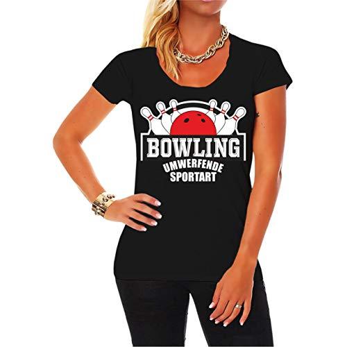 Frauen und Damen T-Shirt Bowling Strike Pins eine umwerfende Sportart Größe XS - 5XL