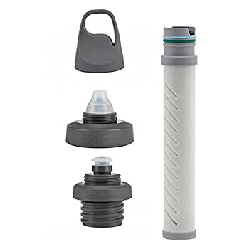 LifeStraw Universal Kit de filtration d?eau pour gourde, compatible avec certains modèles des marques Hydroflask, Camelbak, Klean Kanteen, Nalgene et encore plus Blanc Taille Unique