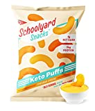 Schoolyard Snacks Low Carb Keto Cheese Puffs - Cheddar Cheese - High Protein - All Natural - Gluten...