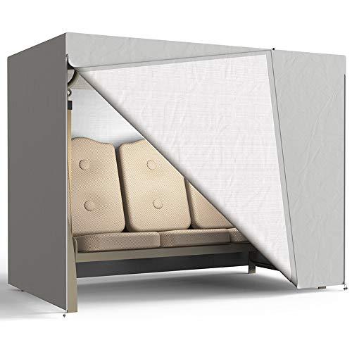 Funda protectora para columpio de 3 plazas, resistente al agua, cubierta para muebles de jardín Oxford 190T, 220 x 170 x 125 cm, color gris