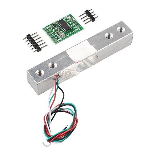 HALJIA Tragbarer Elektronischer Gewicht Sensor Wägezelle Sensor (1kg) + HX711 Gewicht Sensoren AD Modul Kompatibel mit Arduino Raspberry Pi DIY etc.