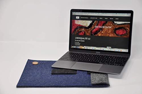Mac Book 12 ✔Laptop Hülle aus Filz für Mac Book 12 ✔ Hülle aus regionalem Filz aus Österreich ✔ Handgemachte 12 Zoll Tasche für Mac Book 12✔ Colours and Dreams