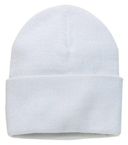 Port & Company Men's Knit Cap OSFA White