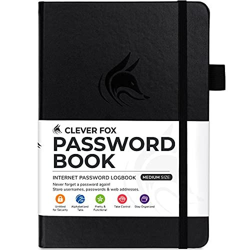 Clever Fox Password Book with tabs.…