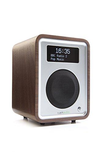Ruark Audio Tischradio R1 MK3 AUX Bluetooth® (A2DP) DAB+ UKW FM Walnussfurnier mit kontrastreiche OLED-Anzeige