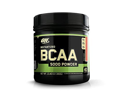 Optimum Nutrition Instantized BCAA Powder, Keto Friendly Branched Chain Essential Amino Acids, 5000mg, Fruit Punch, 40 Servings