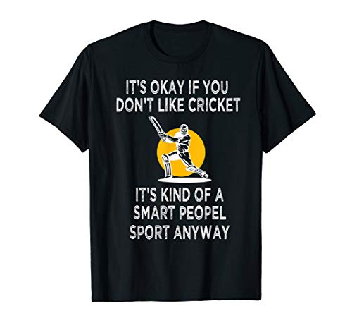 Cricket Game Funny Smart cricket gift Player T-Shirt